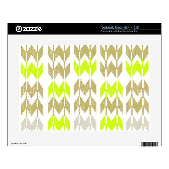 Tribal chevron geometric abstract neon pattern skins for small netbooks