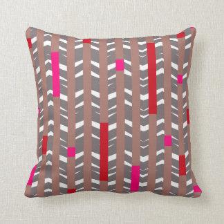 Tribal Chevron - mauve red fuschia Throw Pillow