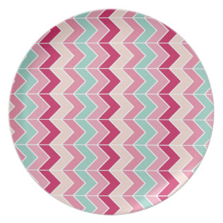 Tribal chevron zigzag stripes zig zag pattern chic dinner plate