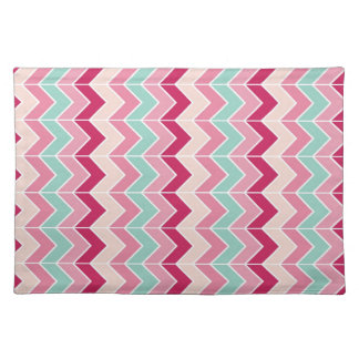 Tribal chevron zigzag stripes zig zag pattern chic placemat