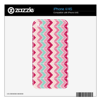 Tribal chevron zigzag stripes zig zag pattern chic skins for the iPhone 4