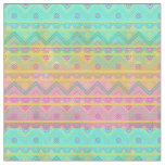 Tribal Chic Geometric Watercolor Fabric