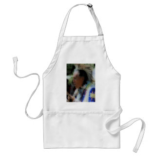 'Tribal Chief in Ceremony' Adult Apron
