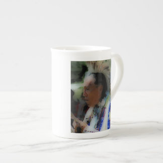 'Tribal Chief in Ceremony' Tea Cup