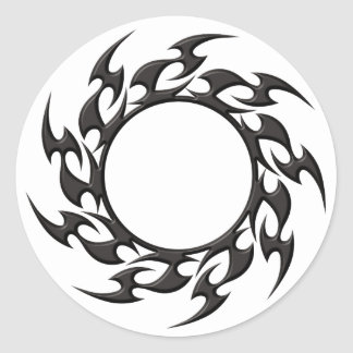 Tribal Circle Tattoo Classic Round Sticker