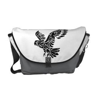 Tribal Cockatoo parrot bird tattoo Messenger Bag