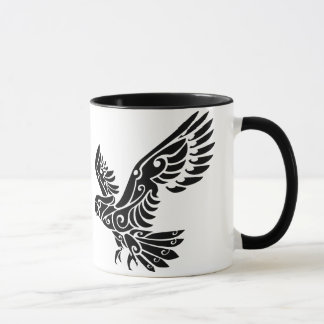 Tribal Cockatoo parrot bird tattoo Mug