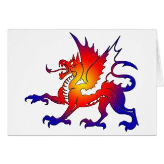 Tribal Color Dragon Greeting Card