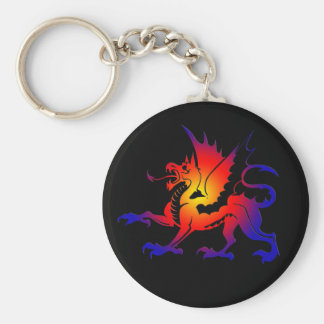 Tribal Color Dragon Keychain II