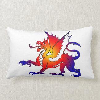 Tribal Color Dragon Pillow