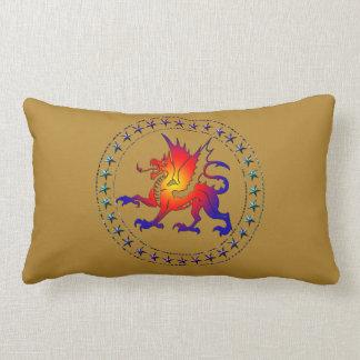 Tribal Color Dragon Pillow II