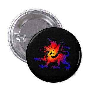 Tribal Color Dragon PinII Pinback Button
