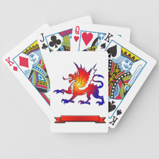 Tribal Color Dragon Playing Cards