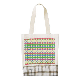 Tribal colorful cool pattern zazzle HEART tote bag