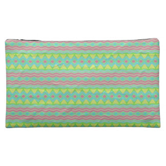 Tribal colorful pattern makeup bags