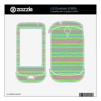 Tribal colorful pattern skins for LG quantum