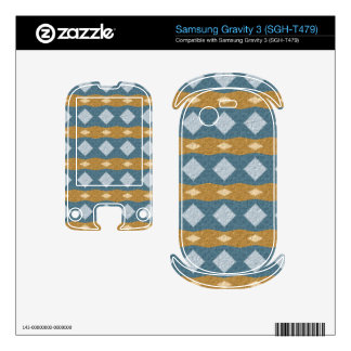 Tribal colorful pattern samsung gravity 3 skins