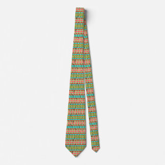 Tribal colorful pattern tie