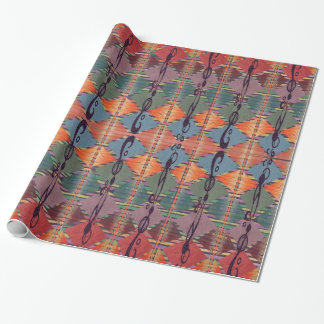 Tribal Colors Abstract Wrapping Wrapping Paper