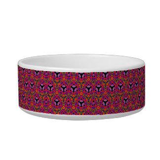 Tribal contemporary abstract custom cat bowl