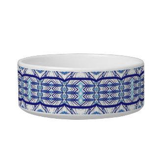 Tribal contemporary abstract custom cat food bowl