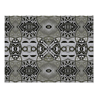 Tribal contemporary abstract geometric art poster
