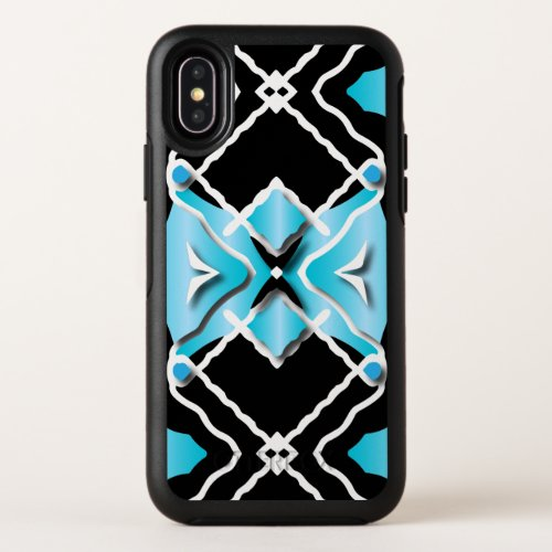 Tribal Contemporary Turquoise Black White Pattern Phone Case
