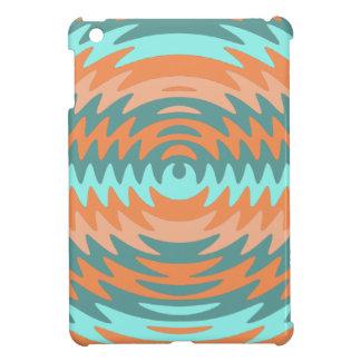 Tribal Coral Aqua Saw Blade Ripples Waves Cover For The iPad Mini