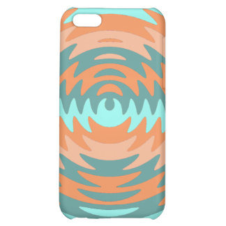 Tribal Coral Aqua Saw Blade Ripples Waves iPhone 5C Cover