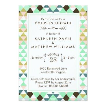 Aztec Themed Tribal Couples Wedding Bridal Shower CBendel Card