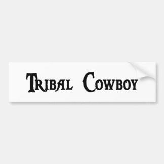 Tribal Cowboy Bumper Sticker Car Bumper Sticker