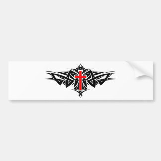Tribal Cross Car Bumper Sticker