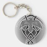 tribal crow keychains