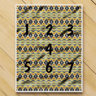 Tribal crumpled paper countdown calendars