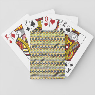 Tribal crumpled paper playing cards