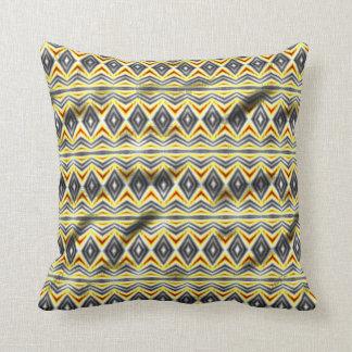 Tribal crumpled pattern pillow