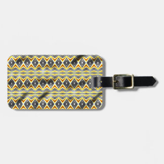 Tribal crumpled pattern tag for luggage