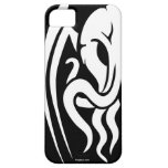 Tribal Cthulhu iPhone 5/5S case white on black