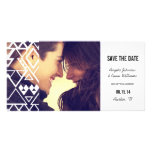 Tribal Cutout Save the Date Photo Card