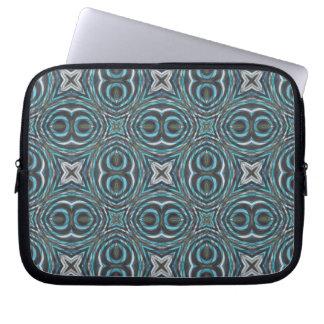 Tribal Damask Decorative Geometric Abstract Art Laptop Computer Sleeve