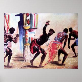 tribal dancing poster