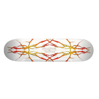 Tribal Deer Skull Tattoo - flame Skateboard