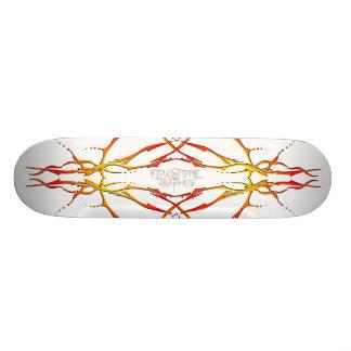 Tribal Deer Skull Tattoo - flame Skateboards