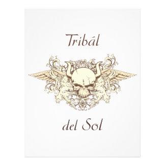 Tribal Del Sol - cráneo híbrido Membrete