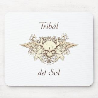 Tribal Del Sol - cráneo híbrido Alfombrillas De Ratón