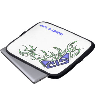 Tribal Design Blue/Green Computer Sleeve
