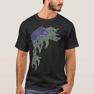 Tribal Design - Blue & Green T-Shirt
