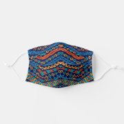Tribal Design Ethnic Blue Stripes Unisex Fashion Face Mask