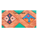 Tribal Design Photo Greeting Card