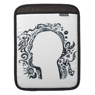 Tribal design silhouette head sleeves for iPads